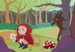 Little red riding hood - summer picks flowers
