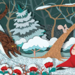 Little Red Riding Hood - Winter - Illustration by Nina Masci
